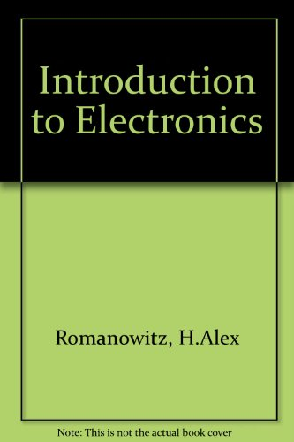 Introduction to Electronics PDF Books