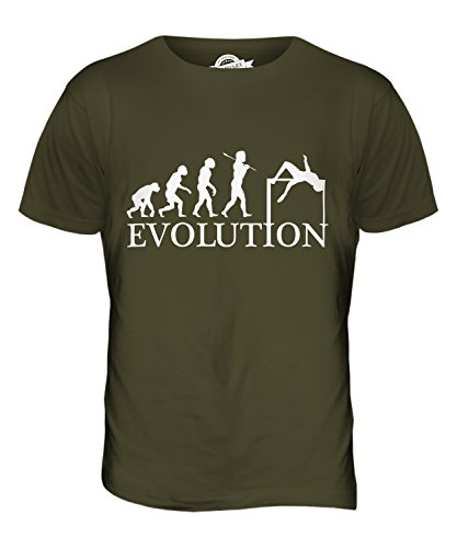 CandyMix Hochsprung Evolution Des Menschen Herren T Shirt Khaki Grün