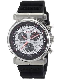 Formex 4 Speed 15003.3011 - Reloj cronógrafo de cuarzo para hombre con correa de silicona, color negro