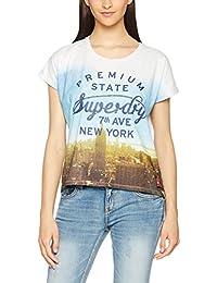 Superdry Oversize T-Shirt Women PREMIUM NY GROWN Ice Marl