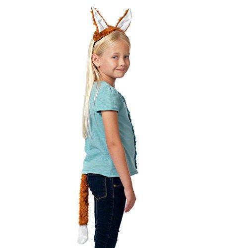 Fuchs ohren und Schwanz für Kinder 3+ jahre.