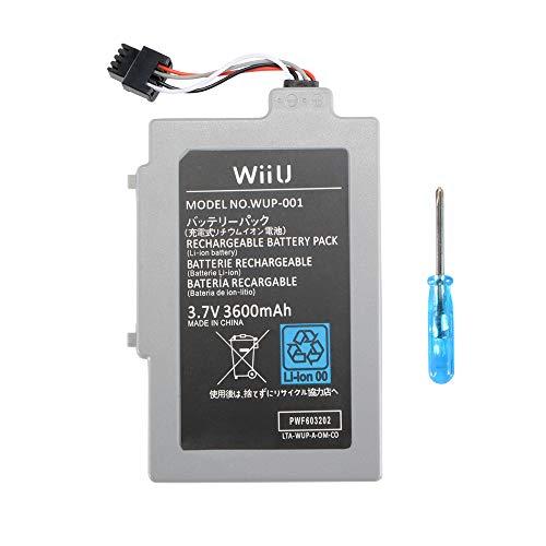 Memoru Wiederaufladbarer Lithium-Ionen-Akku für Nintendo Wii U Gamepad (3,7 V, 3000 mAh) (Wii U Gamepad-ersatz-akku)