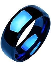 SORELLA'Z Blue Stainless Steel Ring For Men