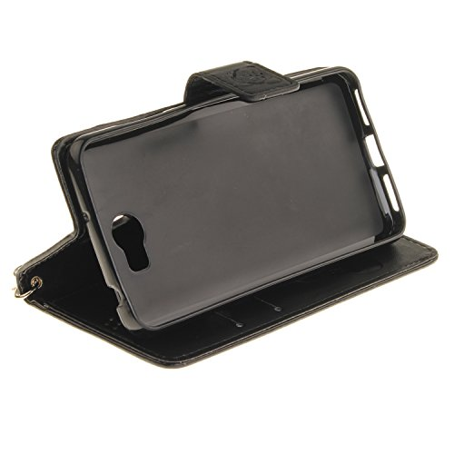 Etui IPHONE 6 /IPHONE 6S, Frlife| Housse Portefeuille Coque Protection pour IPHONE 6 /IPHONE 6S, en PU Cuir, avec Stand et Rangement Cartes, Case Cover black