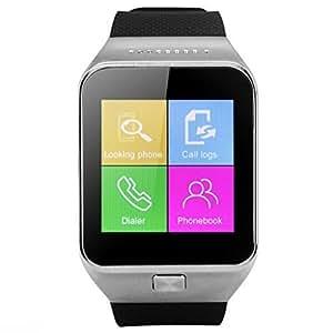 ZGPAX® S28 1.54 Pouces Écran Montre Téléphone Débloqué Bluetooth V3.0 Smart Watch Fonctions SIM Sync Alarme Anti-perte Sport Calories Étapes pour iPhone et Android Smartphones - Silver