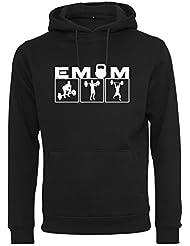 EMOM Fitness Clean&Jerk Hoody/Kapuzenpulli für Herren (Schwarz, Dunkelgrau oder Hellgrau in Größe:S,M,L,XL oder XXL)