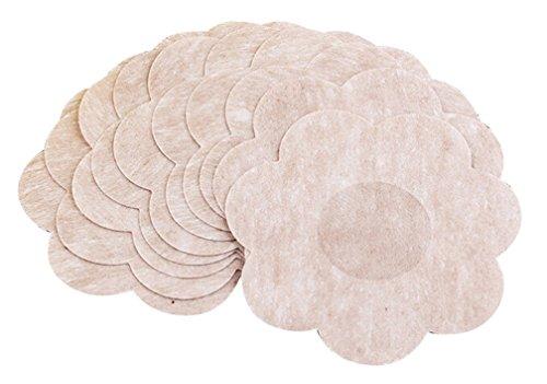Amorar Damen Klebe BH Brustpaste Flower Adhesive No Show Einweg Blütenblatt Pastete Nippel Abdeckungs Pad Patches 1/5/10/15/20/40 Paare (Fashion-formen Blütenblätter Brust)