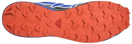 Salomon Men's Speedcross 4 Trail Running Shoe, Blue, Synthetic/Textile, Size: 48
