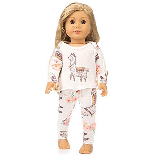 Zolimx Puppenkleidung Süße Nachtwäsche Pyjamas Nachthemd für 18 Zoll Unsere Generation Amerikanische Puppe