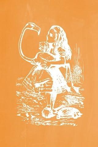 Alice in Wonderland Pastel Chalkboard Journal - Alice and The Flamingo (Orange): 100 page 6