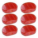6 piroli ovali in resina rosso giada in acrilico per chitarra elettrica, accordatore meccanico, testina di ricambio, manopole per manopole
