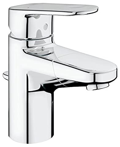 GROHE 33155002 Europlus Basin Tap with Pop-Up Waste and Retractable