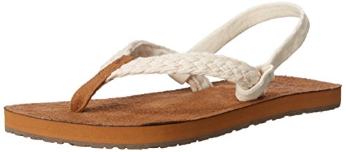 Reef Little Gypsy Macrame, Flip-flop fille Beige (Cream)