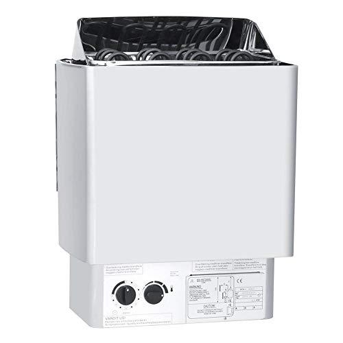 Jimfoty Saunaofen, 4.5KW Premium Whirlpool-Dusche Saunaofen 230-240V Edelstahl-Badezimmerwärme Interne Steuerung