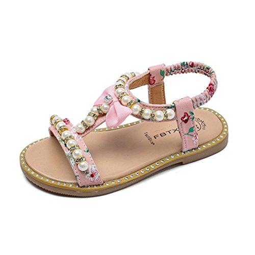 Babyschuhe Sandalen Schuhe LMMVPMädchen Sandalen Sommer Schuhe Sandal Kids Prinzessin Schuhe Kids Neugeborene Schuhkleinkind Schuh Turnschuh Blume Schuhe (6Monate-6Jahr) (Rosa, 24 (2.5-3Jahr))
