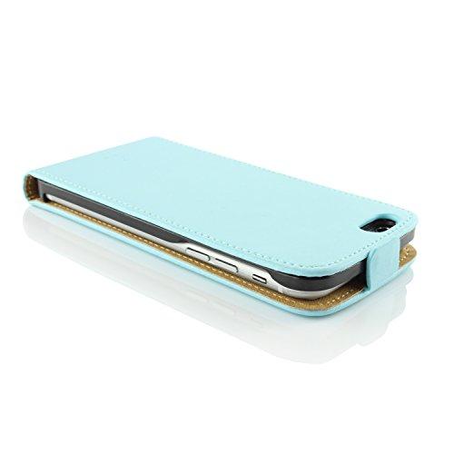 Apple iPhone 6 / 6s Handyhülle von original UrCover® in der Flip Edition Schutzhülle Edel Case Cover Etui Grün Hell Blau