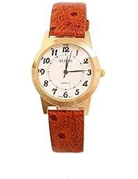 Alpine ALrbrown1 - Reloj para hombres color naranja