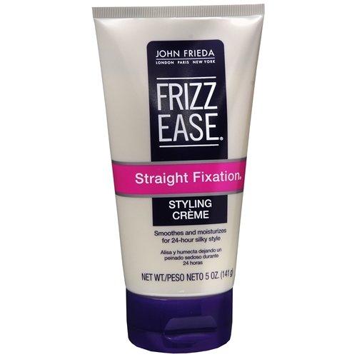 John Frieda - Crème légère lissante anti-frisottis Frizz-Ease Straight Fixation - Pour des cheveux soyeux et lisses pendant 24h - 145 ml (Lot de 6)