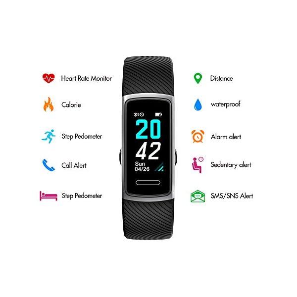 Huyeta Pulsera Actividad Inteligente Fitness Tracker Podómetro Monitor de Sueño Contador de Calorías Pulsera Inteligente… 7