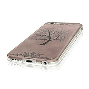 """Melody 10007, Tree, Ultrathin Crystal Soft TPU Gel Silicone Case Cover Skin Shell Protector with Colourful Design for iPhone 6 4.7"""""""