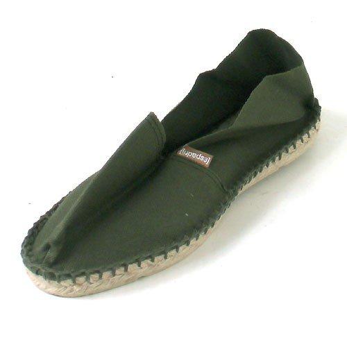 Espadrij l' originale Classic 100Espadrille scarpe basse unisex, per adulti, verde (Grün (Grün (olive 33) 33)), 47 EU