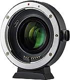 VILTROX EF-EOS M2 -Adaptador de Objetivo Reductor de Enfoque automático, 0,71 aumentador de Velocidad para cámaras Canon EF Lente a EOS-M (EF-M Mount) Cámara Mirrorless M2 M3 M5 M6 M10 M50 M100