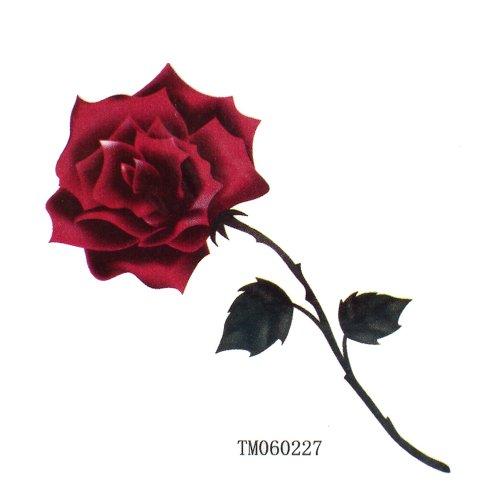 King horse impermeabile e sudore donna moda sexy tatuaggi rose rosse
