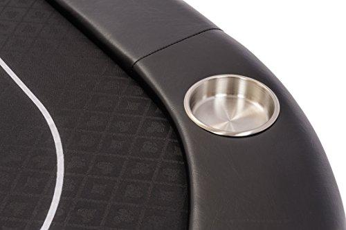 Riverboat Faltbare Pokerauflage mit Schwarzem wasserabweisenden Stoff und Tasche - Pokertisch 200cm - 7