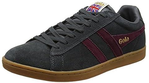 Gola Herren Equipe Suede Sneaker, Grau (Graphite/Burgundy/Gum), 46 EU