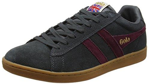 Gola Equipe Suede, Sneaker Uomo, Grigio (Graphite/Burgundy/Gum), 43 EU