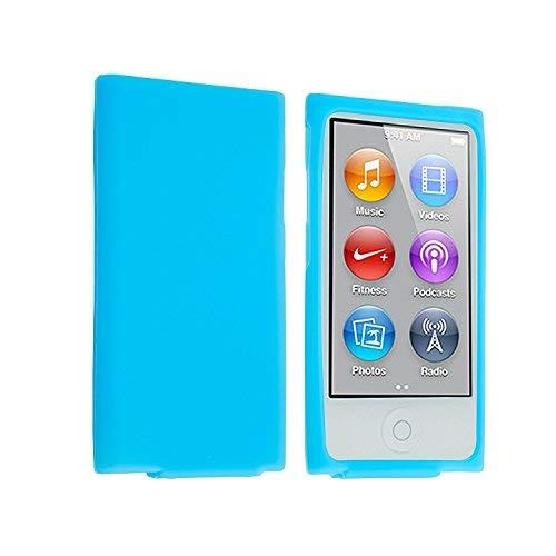 Eightnice (TM) Farbe Silikon Weich Gummi Gel Skin Schutzhülle Für iPod Nano 7th Generation 7 G 7(lightblue)