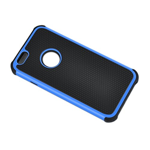 Phone case & Hülle Für IPhone 6 Plus / 6S Plus, Fußball Textur Kunststoff Fall ( Color : Pink ) Blue