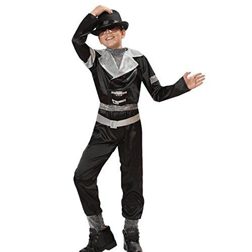 Pegasus vestito costume maschera di carnevale bambino - michael jackson super star - taglia 12/13 anni - 131 cm