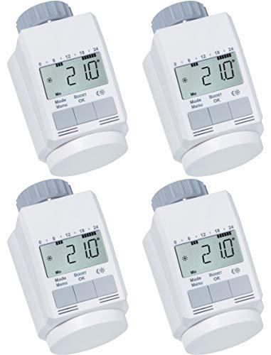 AGT - Set di 4 valvole termostatiche programmabili per il risparmio energetico