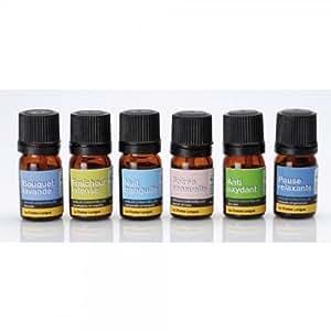 coffret de 6 huiles essentielles pour diffuseur et humidificateur bijoux