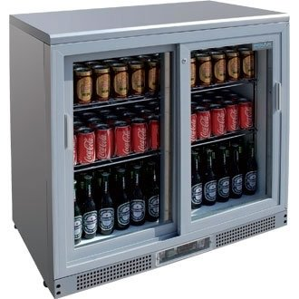 polar-bar-display-cooler-chiller-commercial-refrigerator-180-bottles-silver-finish-2-door