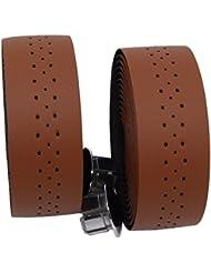 kingou Ruban pour guidon barre de luxe en cuir PU bande/pignon fixe pour vélo de route pour bar avec 2prise réfléchissant