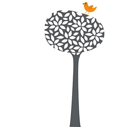 Wandtattoo Baum und Spruch Wandaufkleber Blätter und Vogel für Kinder Junge Mädchen oder...