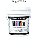 HIIFIX Tiles Epoxy, Epoxy Grout, Epoxy Joint Filler, Best For Tiles and Stones (1 KG) (Resin + Hardner + Filler) (Bright White)