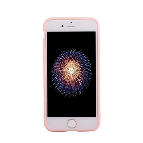 SpiritSun Kirsche Serie Hülle für iPhone 6 Plus/iPhone 6S Plus (5.5 zoll) Weich Silikon Schutzhülle Transparent PC Hart Zurück Schutz Hülle Rosa Blume Handyhülle Ultradünnen Schale Leichtgewicht Tasch Kirschbaum 1