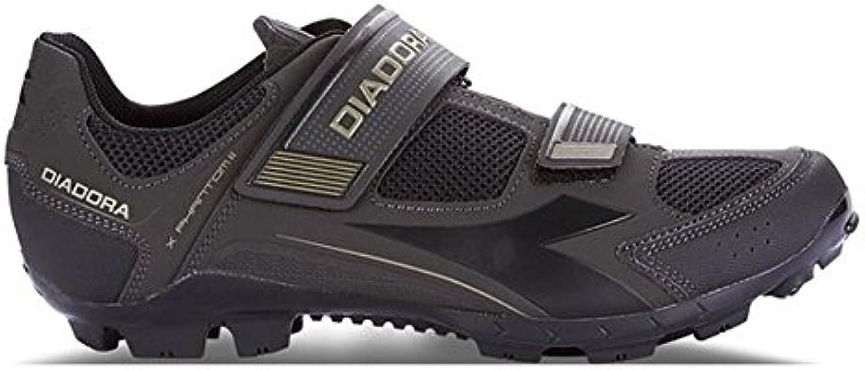 Diadora - Zapatillas de ciclismo de Material Sintético para hombre Negro Schwarze 44 EU  -