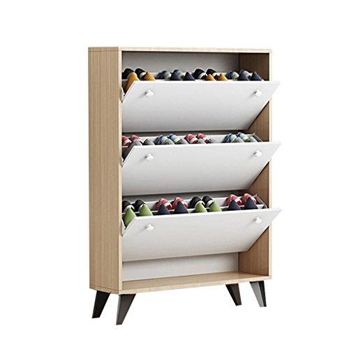 pt, Teng Peng Panier à Chaussures Pratique Blanc Design Range-Chaussures (Taille : 70x24x119cm)