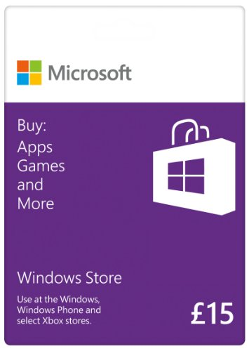 Price comparison product image Windows Store - 15 GBP Gift Card [Online Code]