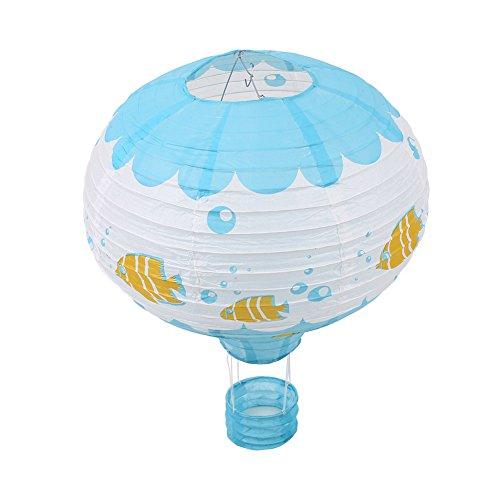 SSXY Party Heißluft Ballon Papierlaterne 16 Zoll 40 Cm Ballon Ktv Bar Dekoration Für Party/Hochzeit / Geburtstag - # 8 Meeresboden Fisch