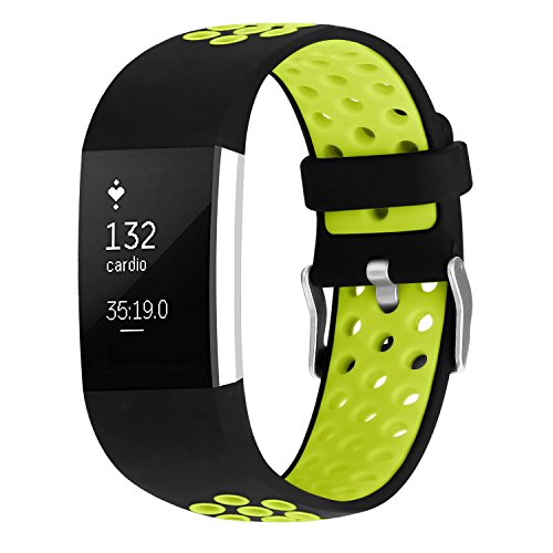 Ersatz Fitbit Charge 2 Armbänd, Classic Wechsel Sport Armband für Fitbit Charge 2 Armbänder (Kein Tracker)