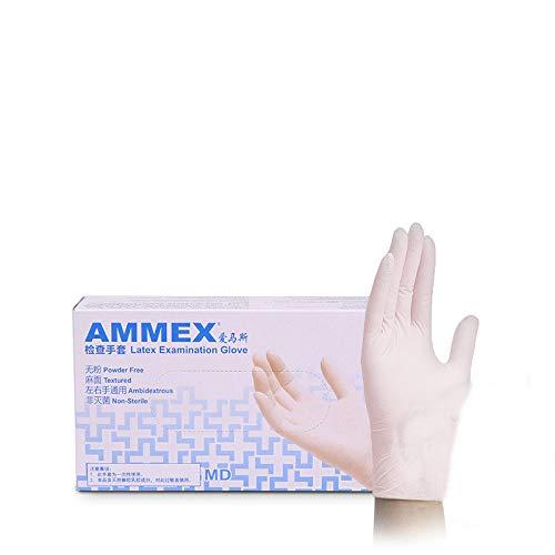 100 / box einweg lebensmittelqualität handschuhe gummi latexhandschuhe inspektionslabor medizinische handschuhe hausarbeitS (Schwarze Klaue Motorrad Handschuhe)