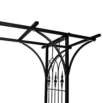 Anself Rosenbogen Torbogen aus Eisen 206 x 52 x 200 cm Schwarz von Anself - Du und dein Garten