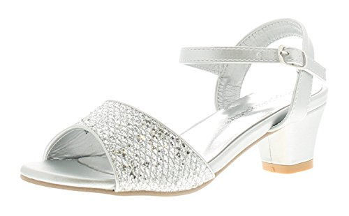 dbefe4601a61 Princess Stardust Madeline Girls Strappy Sandals Silver - Silver - UK Size  13