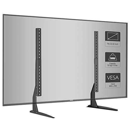 BONTEC Universal Soporte para TV, Pedestal de TV para Television LCD LED Plasma Plano 22-65 Pulgadas...