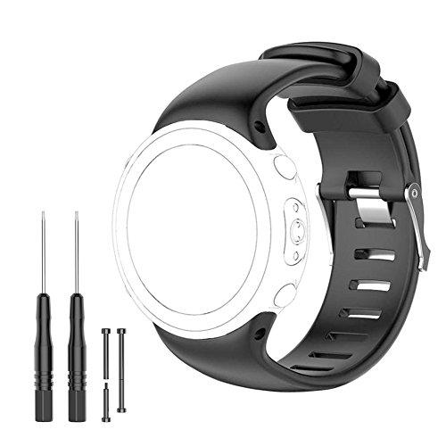 Suunto D4i Sangle - Bande de remplacement pour Suunto D4, D4i, ordinateur de plongée D4i Novo poignet montre - pour 14,5 - 21,8 cm (145 mm-220 mm) Freetools, Vis Barre de pins, Loctite